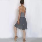 ◆Minimalist Ballet Skirt: ANTIQUE GRAY (ミニマリスト・プルオンバレエスカート(アンティーク・グレー))