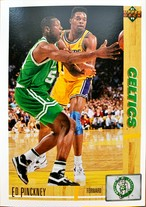 NBAカード 91-92UPPERDECK Ed Pinckney #129 CELTICS