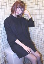半袖チャイナシャツ 黒