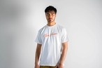 ThreeArrows Tシャツ(white × orange)