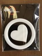 3D ゴーバッジ 12番 HEART WHITE