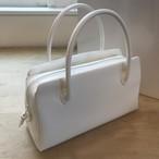 雨の日も使える真っ白シンプルな利休バッグ 中型【送料込】