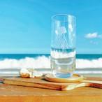 涼し気なクラゲのグラス 3色 海月 くらげ タンブラー ロング