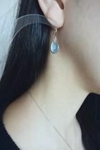 K10 Carving Blue Topaz Earrings 10金カービング(彫り)ブルートパーズピアス(イヤリング)