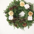 【クリスマス】針葉樹のフレッシュリース