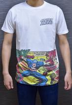 キャプテンアメリカ アメコミ柄Tシャツ