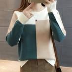 【tops】配色新作トレンド季節感あるセーター 24385437