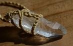 レムリアンシードクリスタル原石マクラメペンダント(CASA BLESSING®︎)L07-0011