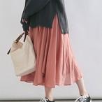 【フレッシュな春カラー★イレヘムラインスカート】ヴィンテージ風ワッシャー・チューリップスカート3カラー