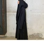 ☆MENS ビッグフードロングコート 韓国ファッション