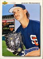 MLBカード 92UPPERDECK Jeremy Hernandez #042 PADRES