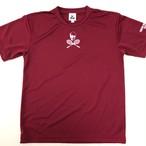 ビッグスカルゲームシャツ バーガンディ GS-001