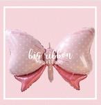 ビッグリボンバルーン 誕生日 飾りつけ リボン ピンク バルーン かわいい パーティー プレゼント