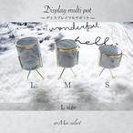海外爆人気!! [Lサイズ] 大理石柄フラワーベースゴールドワイヤースタンド付き ディスプレイ マルチポット マーブル 花瓶 高級セラミック