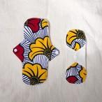 オーガニックコットン布ナプキン African Print Red x Yellow