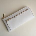 <送料無料>薄くて軽くて大容量な長財布 14ZipWallet ホワイトリザード Squeeze 日本製