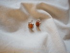 <vintage silver925>amber color pierce
