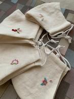 韓国刺繍の布マスク 〜MU〜
