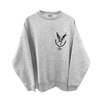 9___89 Deer embroidery sweat