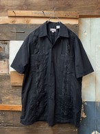 80-90's CHIC ELEGANT S/S SHIRT BLACK