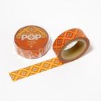 紬POPマスキングテープ|龍郷柄1|オレンジ
