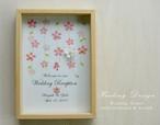ウェルカムボード BOX 和風モダン (しだれ桜&ナチュラル)和装 結婚式