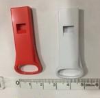 災害・緊急用に レンジャーの間で大人気 薄型ホイッスル 赤/白 1個