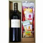 グルメギフト  ギフト ドニ・バロー シャトー・レ・グラヴィエール サンテミリオン・グランクリュ赤ワイン とチーズ&ピコス 5種セット