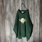 [Hard Rock Cafe]Lyon dark green sweat