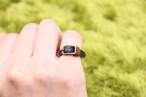 本革の小さなベルトリング|ブラック