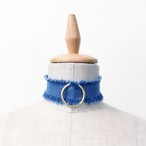 Cutoff Denim Choker