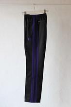 【Needles】narrow track pant poly smooth-black