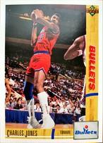 NBAカード 91-92UPPERDECK Charles Jones #328 BULLETS