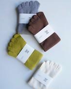 【 Glück und Gute 】グリュックントグーテ  五本指靴下「足の肌着」絹と綿