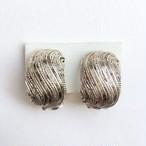 silver design hoop earring[e-646]