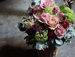 [予約商品 ・最短5/9着]Colorful flowers arrangement (母の日の贈り物/華やかなイメージのアレンジ)