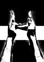 Craig Garcia 作品名:Sign language H  A4キャンバスポスターフレームセット【商品コード: cgslh03】