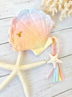 【一点物】太陽染め・人魚姫のシェル ポーチb