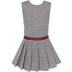 《school collection 》 Gray Pleated Skirt Dress(送料無料)