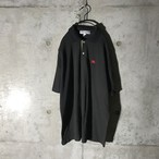 [BURBERRY] red pointed half polo