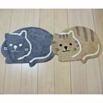 【CHATTE・シャット】猫キッチンマット(ブラック)【猫雑貨 インテリア 4900-08】