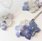 天然色♪ドライ紫陽花と透かしシルバーのネックレス♪