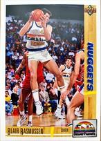 NBAカード 91-92UPPERDECK Blair Rasmussen #312 NUGGETS