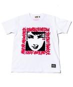 RAKUGAKI GIRL STENCIL T-Shirts White