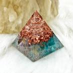 ミニピラミッド型オルゴナイト アパタイト&フローライト