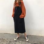 ストラップ ジャンパー ロング スカート【0799】