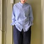 harvesty ラウンドカラーオックスフォードシャツ blue