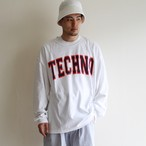 is-ness music【 mens 】techno long  sleeve t-shirts