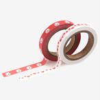 【ビションフリーゼ】マスキングテープ(slim 2p - 12 Bichon frise)【マステ 犬柄】