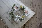 アンティークレースの花布花ブローチ